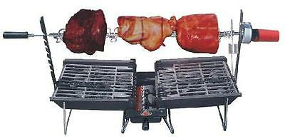 NEW Son Of Hibachi Triple Combo Charcoal Barbecue Grill, Carry Bag & Rotisserie