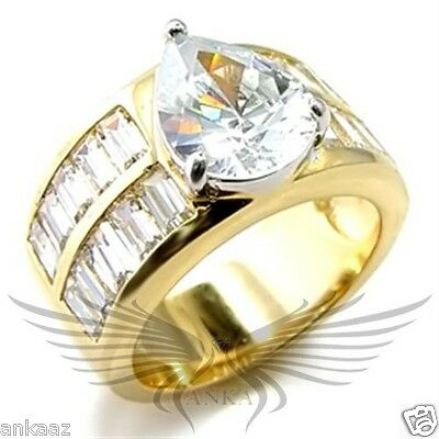 Brilliant 5ct Oval Cut Cubic Zircon CZ AAA Engagement Ring Size 5 6 7 9 10 GL242