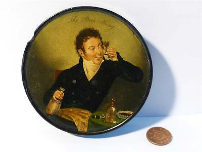 Antique THE BEES WING Prince Regent George IV - Wine Tasting SNUFF BOX