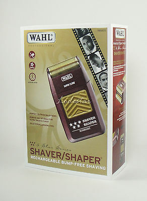 [Wahl] 5 Star Shaver Shaper with Stand #8547 Rechargeable Five Free U S Shipping