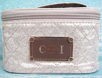 OPI TRAVEL CASE cream quilted, holds cosmetics or 6 nail/gel polishes NEW Ltd Ed