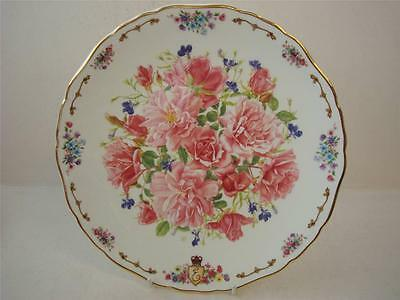 """ROYAL ALBERT GARDEN OF THE QUEEN MOTHER THE ROSES OF MEY LARGE 10.5"""" PLATE"""