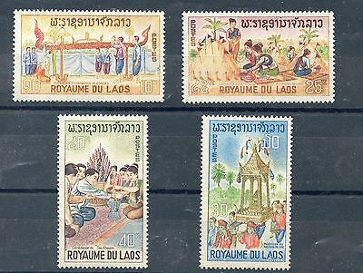 Stamp / Timbre Du Laos Neuf Serie N° 134/137 ** Folklore