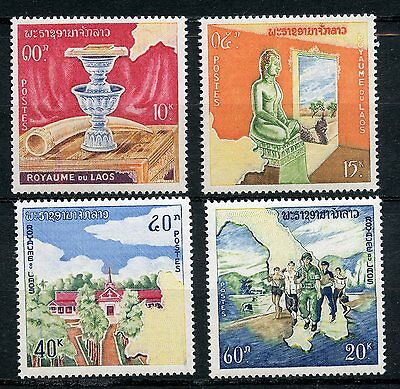 Stamp / Timbre Du Laos Neuf Serie N° 97/100 ** Monarchie Constitutionnelle