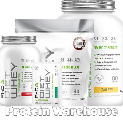 PhD Nutrition Diet Whey Protein 50g 500g 1kg 1000g 2kg 2000g Weight Loss Shake