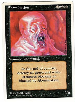 Abomination carte Magic Set Base 4th Fourth Edition ENGLISH CARD EXC
