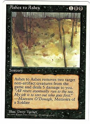 Ashes to Ashes carte Magic Set Base 4th Fourth Edition ENGLISH CARD EXC