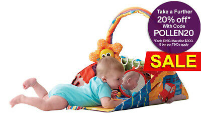 Lamaze LC27125 3 in 1 Baby Mobile Play House Toy Play Mat Activity Motion Gym