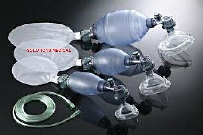 Resuscitator Adult Disposable With Mask Tubing Bag & Safety Pop-Off Valve X 1