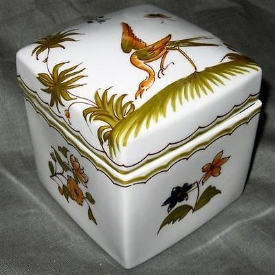 Limoges  Figurina Square Jewelry  Box #2