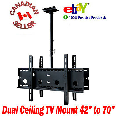 """42 to 70"""" DUAL DOUBLE CEILING TV MOUNT LCD LED PLASMA 47 49 50 51 52 55 60 62 65"""