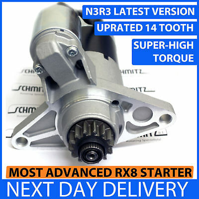 MAZDA RX8 UPRATED STARTER MOTOR 2.2kW 03-12 HIGH TORQUE 14 TOOTH N3R3 MANUAL