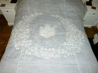 19thC Russian Noble ANNA Princess GOLITSYN PROZOROVSKY Armorial Quilt