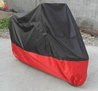 Motorcycle Bike Moped Scooter Cover Snow Rain UV Dust Prevention XL Black+Red