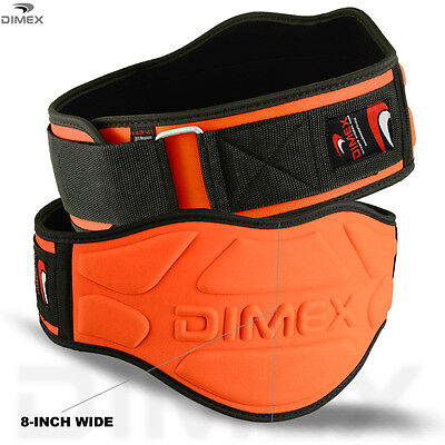 "Weight Lifting Belts Fitness Gym Workout Neoprene 8"" Wide Support Brace"
