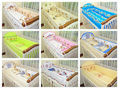 3 PIECE SET 120/90 PILLOWCASE & DUVET COVER & COT BUMPER 360 cm