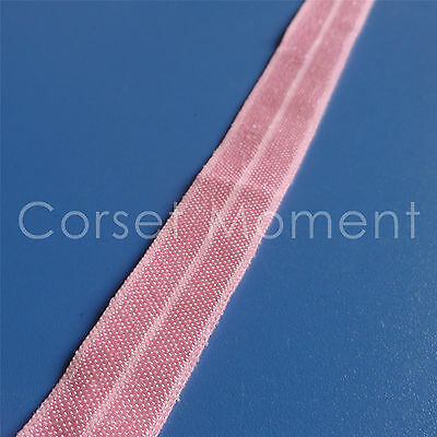 Pink Soft Foldover Elastic Binding Webbing Tape Craft Sewing Material 16mm Wide