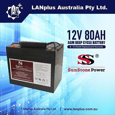 12V 80AH AGM SLA DEEP CYCLE rechargeable Battery 4 Electric powered vehicle, toy