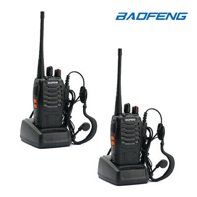 2x Baofeng BF-888S UHF Handheld Two-way Radio 5W HT Walkie Talkie US Fast Ship
