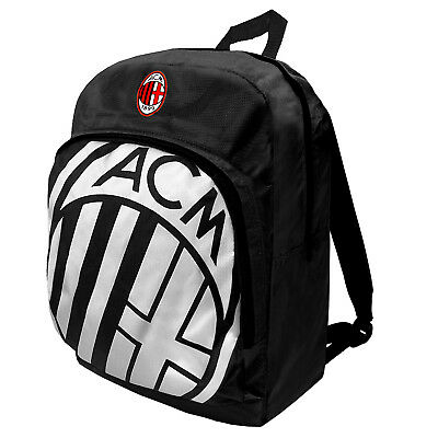 AC Milan Official Football Gift Foil Print Sports Kit Bag Backpack