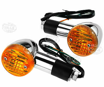 2pcs 12V Chrome Motorcycle Motorbike Turn Signal Bulb Indicators Lamp Light