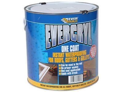 2.5Kg Everbuild Black Evercryl One Coat Roof Repair Compound Paint