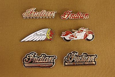 Vintage Indian Chief Scout Four Nos Jacket And Hat Pins Lot Of 6