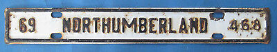 1969 Northumberland County license plate from Virginia