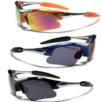 Half Frame Men Sports Wrap Around Cycling Sunglasses Baseball Driving Glasses