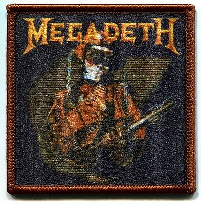 MEGADETH so what soldier EMBROIDERED IRON-ON PATCH **FREE SHIPPING** applique