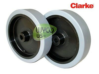 2 Wheel Assemblies For Clarke Focus Ii Floor Scrubber, Oem Parts, 9099691000