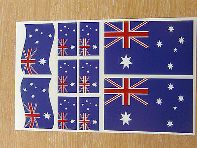 AUSTRALIAN FLAG STICKERS SHEET SIZE 21cm x 14cm