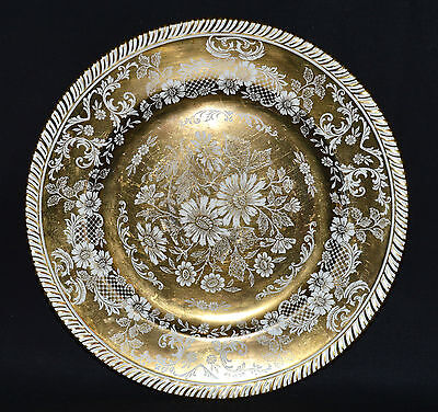 Beautiful Vtg Old English Johnson Brothers Floral Gilt Plate (1880)