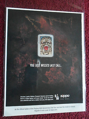 2004 Print Ad Zippo Lighters ~ You Just Missed Last Call