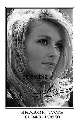Sharon Tate Large Signed Autograph Poster Photo Print - Hollywood Icon