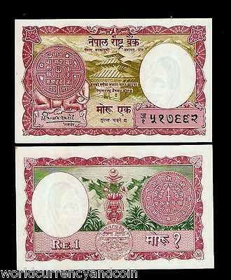 Nepal 1 Mohru P8 1960 Coin Elephant Unc Nepali World Currency Money Bill 10 Note