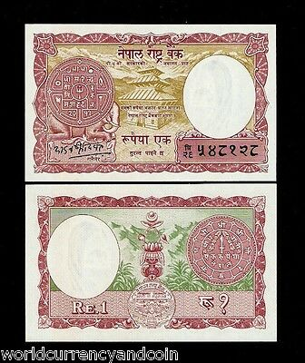 Nepal 1 Rupee P12 1965 Coin Elephant Unc Nepalese Currency Money Bill 10 Notes