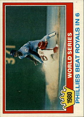 1981 Topps #403 Larry Bowa WS - NM-MT