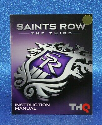 SAINTS ROW THE THIRD  PS3  INSTRUCTION BOOKLET/MANUAL ONLY  #OZ SELLER#