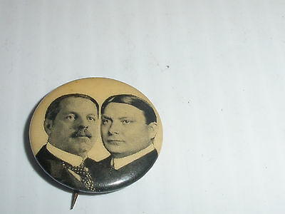 Antique  Frank Higgins & Linn Bruce NYS Governor Pin Button Republican Party