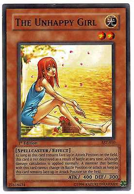 The Unhappy Girl AST-010 Carte Yu-Gi-Oh! 1st FIRST EDITION ENGLISH CARD