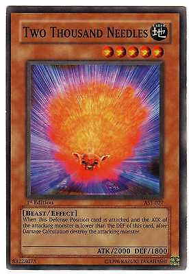 Two Thousand Needles AST-027 Carte Yu-Gi-Oh! 1st FIRST EDITION ENGLISH CARD