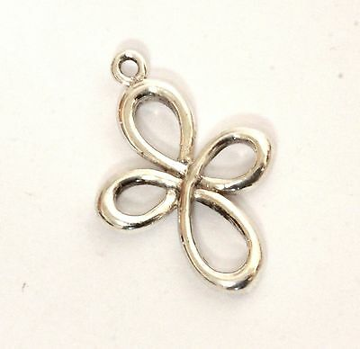 925 sterling silver ladies cross pendant charm 1.7g vintage womens estate