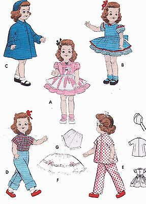 Vintage Doll Clothes PATTERN 7155 for 14 in Toni Walker Harriet Hubbard Ayer