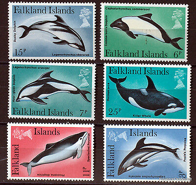 FALKLAND  TIMBRES NEUFS DOLPHIN DAUPHIN serie complete Scott 298/3  97M16