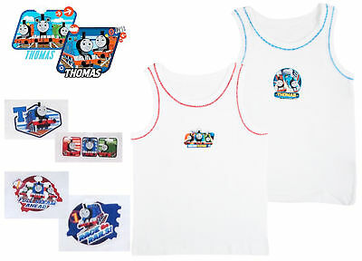 Kids Boys Toddlers Thomas The Tank Engine 2 Pack Vests Underwear Size 1-5 Years