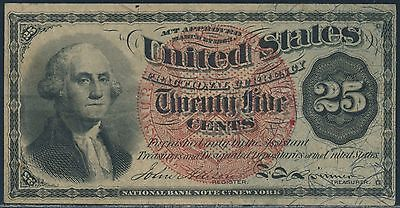 Fr1303 Large Red Seal Paper W/ Violet Fibers & Blue Right End Obverse Xf+ Br5951