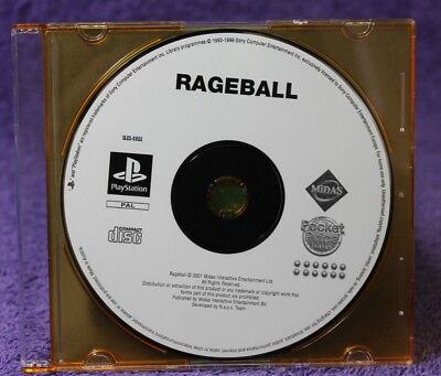 Rageball Ps1 🐙Aussie Seller🐙 (Playstation One) Disc Only~Rage Ball~Fast Post !