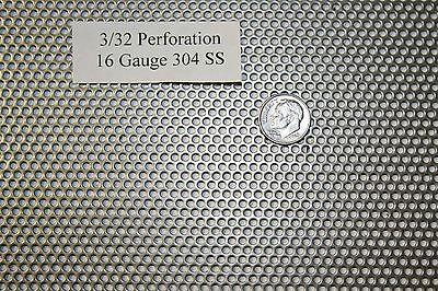 3/32 inch hole, 16 gauge 4 X 8 inch Perforated 304 Stainless Steel Screen Sieve
