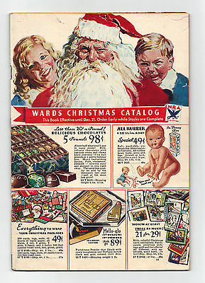 MONTGOMERY WARDS Christmas Catalog, orig 1933 ~ Vintage Toys Housewares Clothes